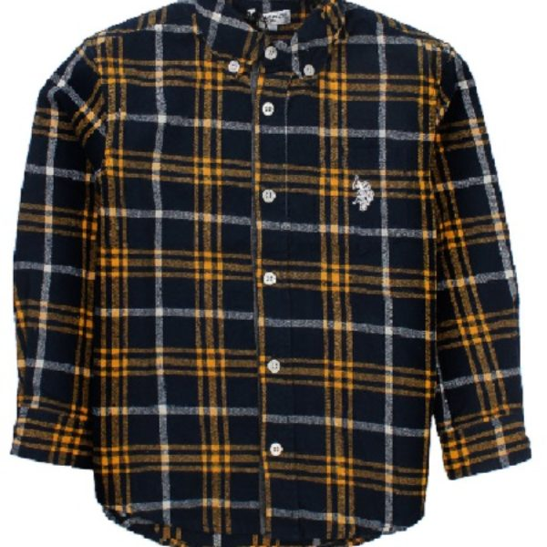 Front of Plaid shirt by US Polo